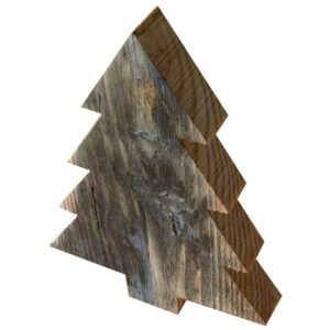 Juletræ stor i genbrugstræ