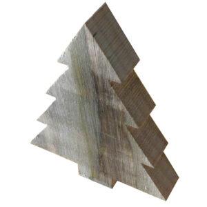 Juletræ mellem i genbrugstræ