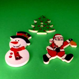 knapper med julemotiver