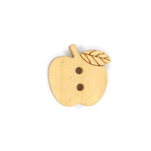 Æbleformet træknap