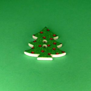 Træknap som juletræ