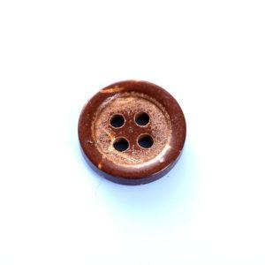 12 mm kokosknap med 4 huller