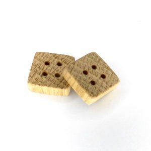 15 mm firkantet træknap i eg