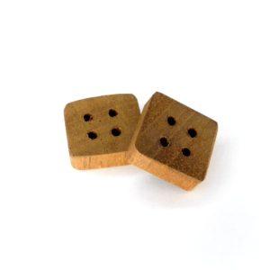 15 mm firkantet træknap i mahogni